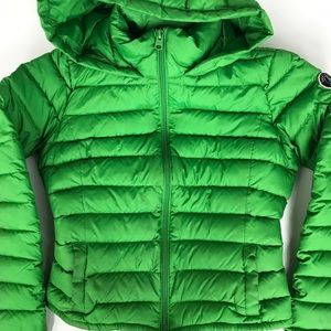 Abercrombie and Fitch green down puffer jacket xs